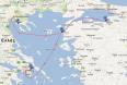 Χάρτης. Το ταξίδι προς την Ελλάδα