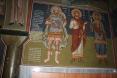 Στήλη στο εσωτερικό του ναού με αναφορά στο τέλος των Αγιογραφιών του ναού 1994 Παντοβασίλισσα Ραφήν