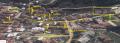 Σεργί, Η «βιομηχανική περιοχή» της Τρίγλιας. Τα βέλη είναι εργοστάσια/βιοτεχνίες