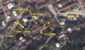 Χάρτης με τα τα τρία εργοστάσια στην Akra Sok. & Baki Cikmazi.